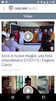 Screenshot of Cagliari Calcio