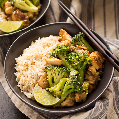 Peanut Sauce Chicken and Broccoli Bowls