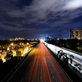 car light trail by Fir Dar Uz - Transportation Automobiles