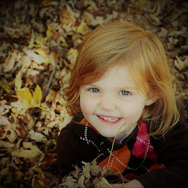Fall leaves by Kim Price - Babies & Children Child Portraits ( my girl, colors, fall, harvest, fun, leaves )