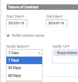 Contract Expiry Notification