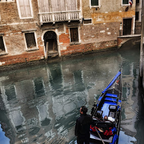 Framed reflections of yesterday by Pranav Babu - Transportation Boats ( gondola, boat, italy )