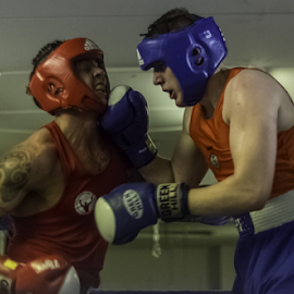 Hitting hard..... by Kristvin Guðmundsson - Sports & Fitness Boxing ( olympic, ring, iceland, red, blue, fight, ko, round, boxing,  )