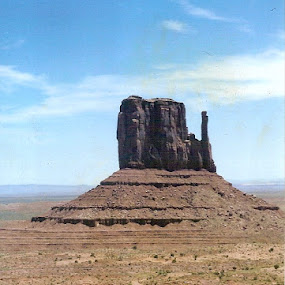 Monument Valley by Gary Strein - Landscapes Caves & Formations ( 1995, monument valley, biking across usa, gary strein )