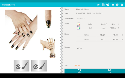 App tapnail for salon manicurist apk for windows phone for X salon mulund rate card