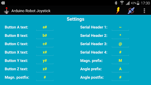 Arduino Robot Joystick - screenshot