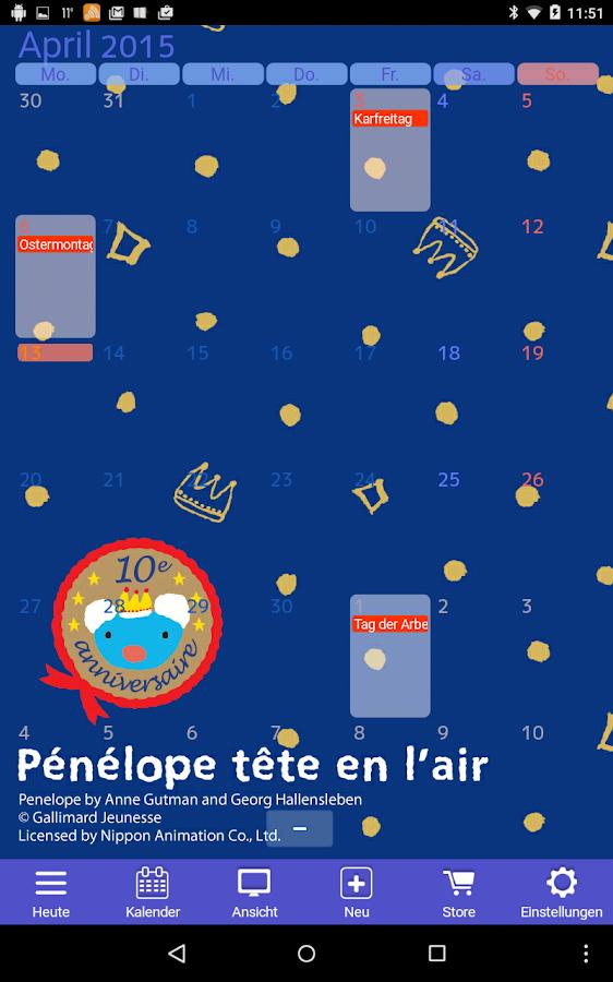 Jorte Kalender & Organizer – Screenshot