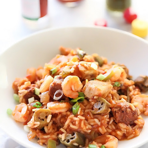 Chicken, Sausage and Shrimp Jambalaya