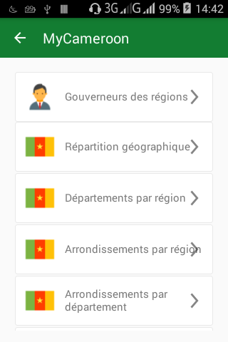 android MyCameroon Screenshot 1
