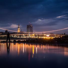 man & bridges by Zoran Osijek - Buildings & Architecture Bridges & Suspended Structures