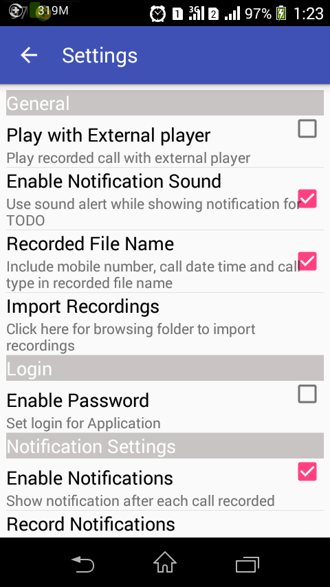 Call Recorder for Android[PRO] Screenshot 4