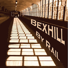 My photo poster i been working on, all comments are welcome, going to see if Bexhill Train station will take it. just a thought. by Sam Kirimli - Transportation Trains
