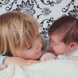 Sisters by Christine Jobin - Babies & Children Child Portraits ( sister, child, baby )