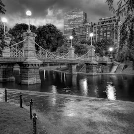 Boston Public Gardens by Ron Phillips - City,  Street & Park  City Parks ( night photography, park, boston, long exposure, night, bridge, city park,  )