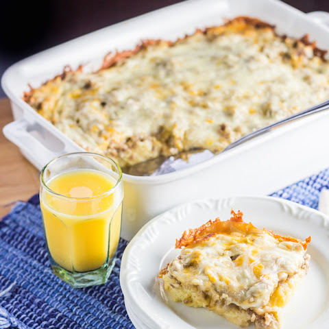 Overnight Sausage Egg & Cheese Breakfast Casserole