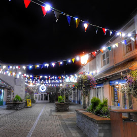 ❤ Keswick by Sue Walker - City,  Street & Park  Night ( cumbria, streetatnight, night, keswick, lake district )