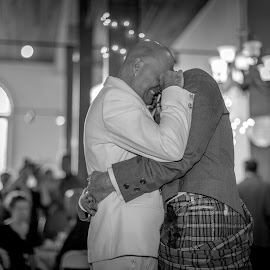 First Dance by Todd Crenshaw - Wedding Reception ( love, reception, first dance, same sex, black and white, wedding, couple )