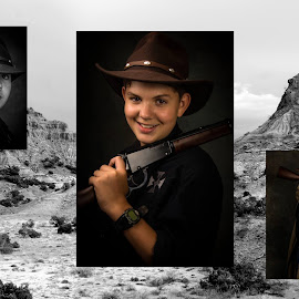Portrait session with a western theme, took way longer than I wanted but I have a lot of iron in the fire by Jason Smith - Digital Art People