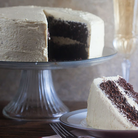 Chocolatiest Chocolate Cake {with Eggnog Icing!}