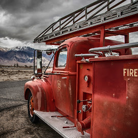 Awaiting the Call by Richard Michael Lingo - Transportation Other ( trucks, sierra nevada, california, fire truck, transportation )