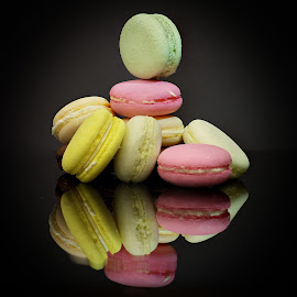 Macaron Tower by Sam Song - Food & Drink Candy & Dessert ( sweet, coloring, french, dessert )