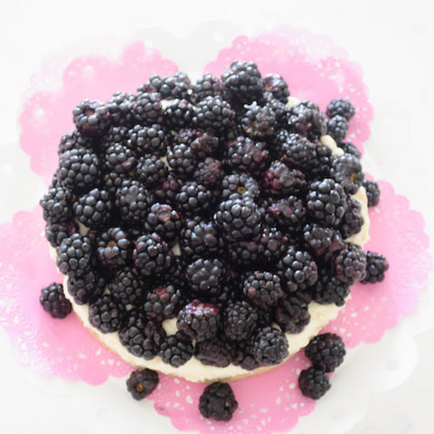 Sugar Free Vanilla Mousse Cake with Blackberries