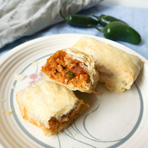 Spicy Tempeh Phyllo Rolls