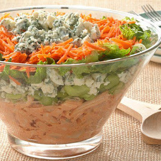 Layered Buffalo Chicken Salad