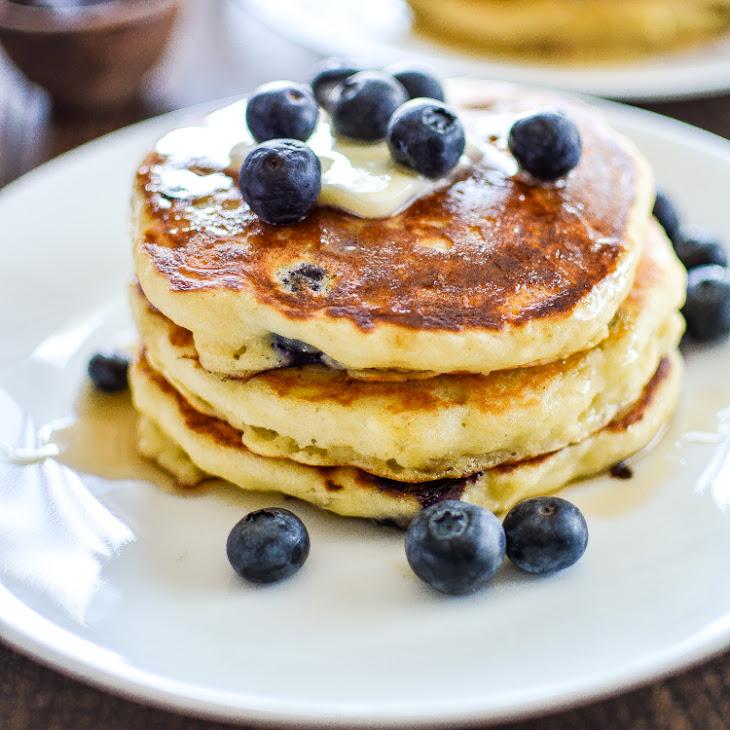 Blueberry Cornmeal Pancakes Recipe | Yummly