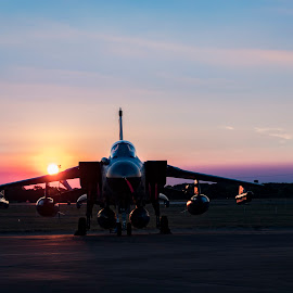 Tornado Gr4 at night by Tristan Wright - Transportation Airplanes ( #tornado #outdoorphotography )