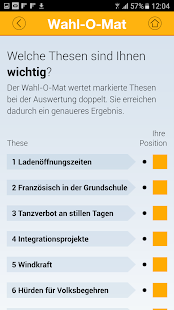 Wahl-O-Mat Screenshot