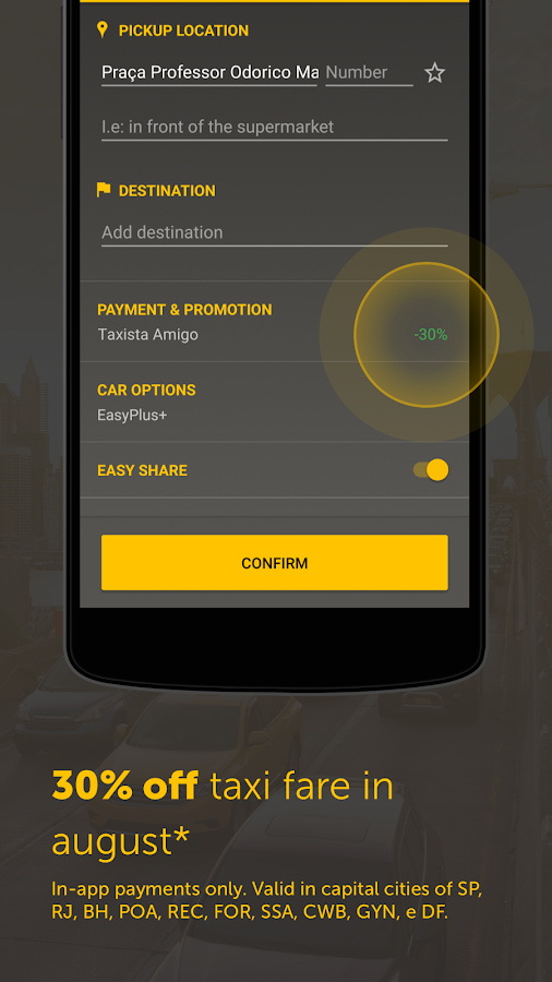 Easy - taxi, car, ridesharing Screenshot 5