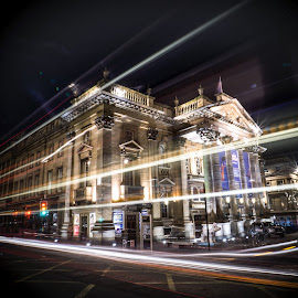Newcastle's Theatre Royal by Adam Lang - City,  Street & Park  Night ( building, slow exposure, night, newcastle, grey street, theatre royal )