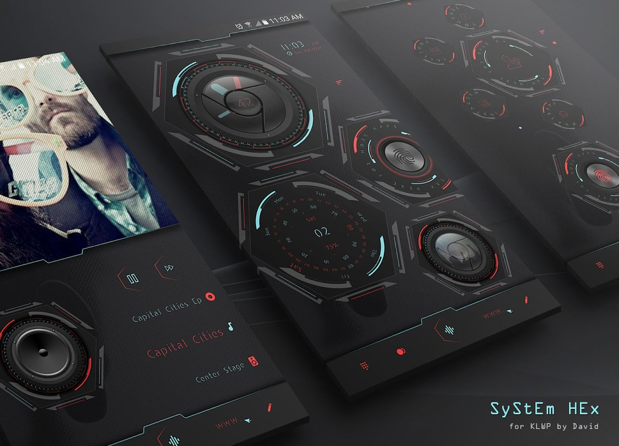 SyStEm HEx for KLWP Screenshot 0