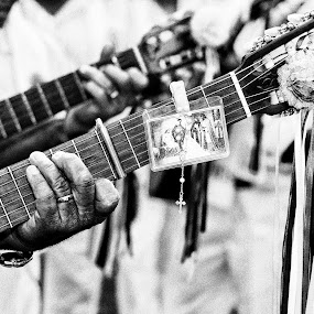 Faith by Gilberto Jr. - People Musicians & Entertainers ( religion, b&w, faith, street, people )
