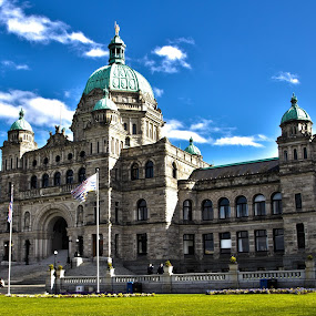 BC Parliament Building in Victoria by Dustin Wawryk - Buildings & Architecture Public & Historical