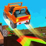 Blocky Car Stunts : Impossible Tracks Icon