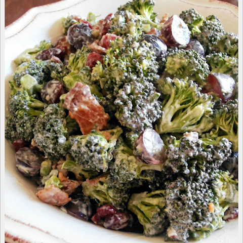 Broccoli, Bacon & Grape Salad