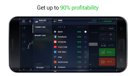 IQ Option - Binary Options, forex, CFD's, bitcoin APK for Windows