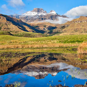 Mountain Reflection by Morne Kotze - Landscapes Mountains & Hills (  )