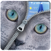 Download Blue Cat Lockscreen:Blue Cute Cat Zipper 2017 APK for Android Kitkat