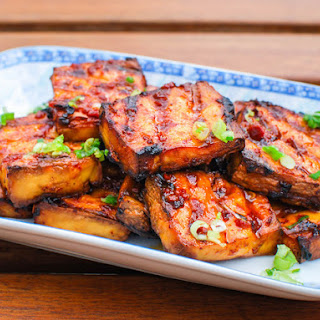 Grilled Tofu With Chipotle-Miso Sauce