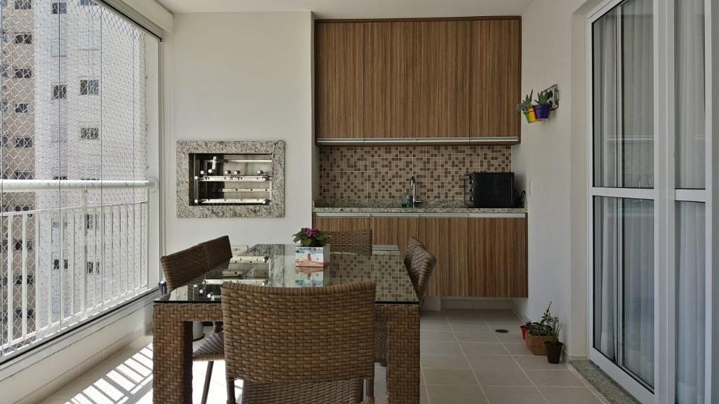 Apartamento Mobiliado, 3 dormitorios, 3 suites, 3 vagas, Varanda Gourme, Cond. Ghaia, Tamboré, Alphaville