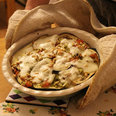 Aubergine and Pesto Bake (v)