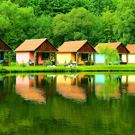 by Alin Achim R - Buildings & Architecture Homes ( colors, green, reflections, forest, lake )