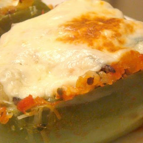 Stuffed Bell Peppers With Ground Turkey and Wild Rice