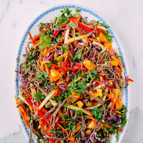 Rainbow Noodle Salad with Fruity Ginger Soy Vinaigrette