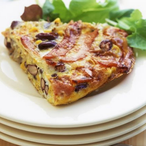 Frittata with Ham and Beans