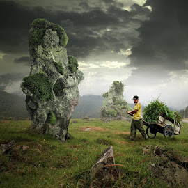 grass seekers by Budi Cc-line - Digital Art Places ( indonesia, kinabalu, budi cc-line, sabah )