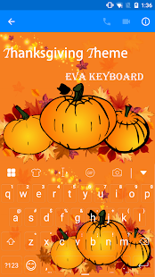 Thanksgiving Keyboard -Emoji - screenshot